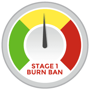 Stage 1 burn ban in effect
